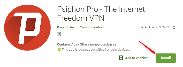 psiphon vpn download