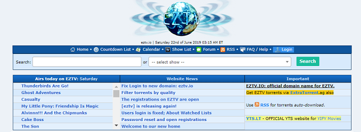 EZTV Proxy Site