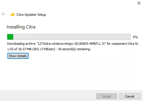 Install Citra 3D emulator setup