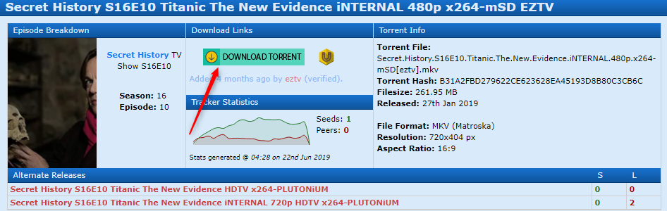 active eztv torrent link