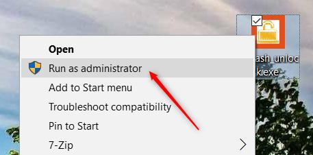 run file as admin