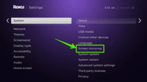 Enable Screen Mirroring